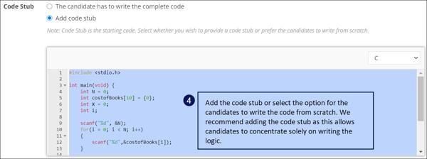 Add the code stub