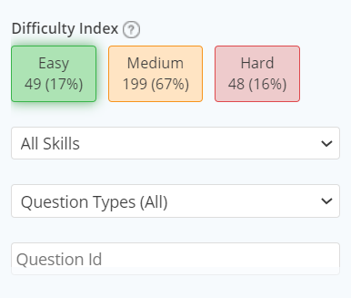 Difficulty Index Grid