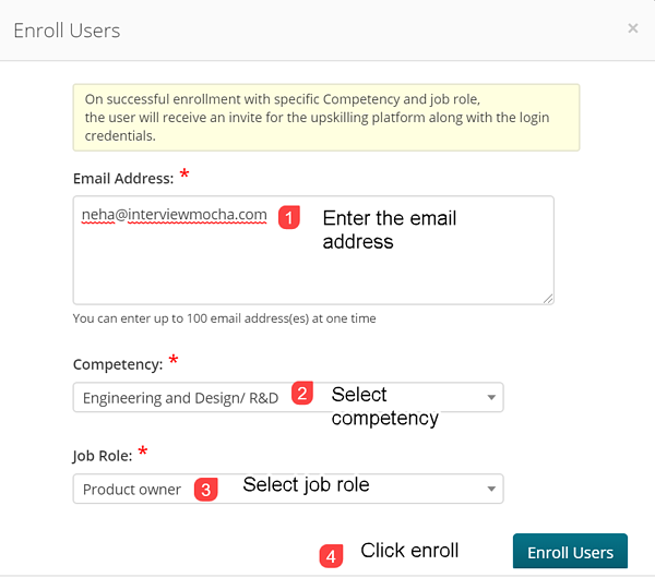 Enroll users
