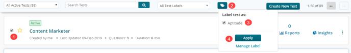 Assign Test Label