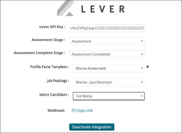 Final integration screen- Activate