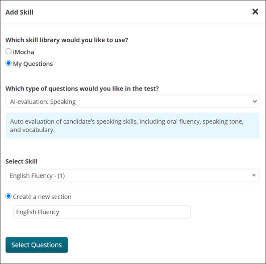 Add AI-evaluation question