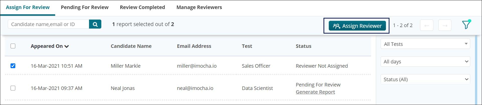 Assign Reviewer