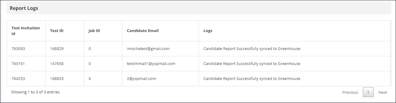 Report Logs