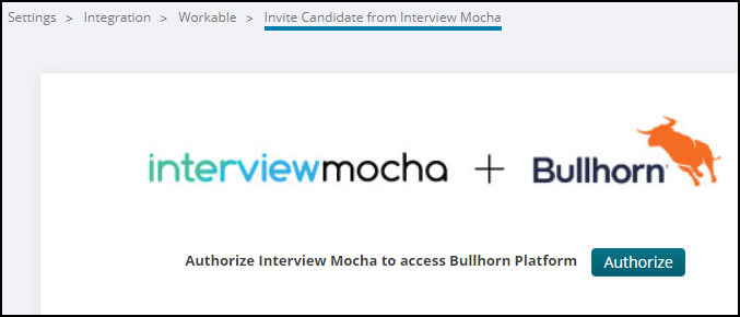 Interview Mocha + Bullhorn 1- Click Integration