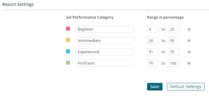 Report Settings under Test Settings