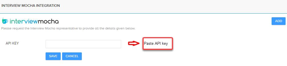 Paste iMocha API Key