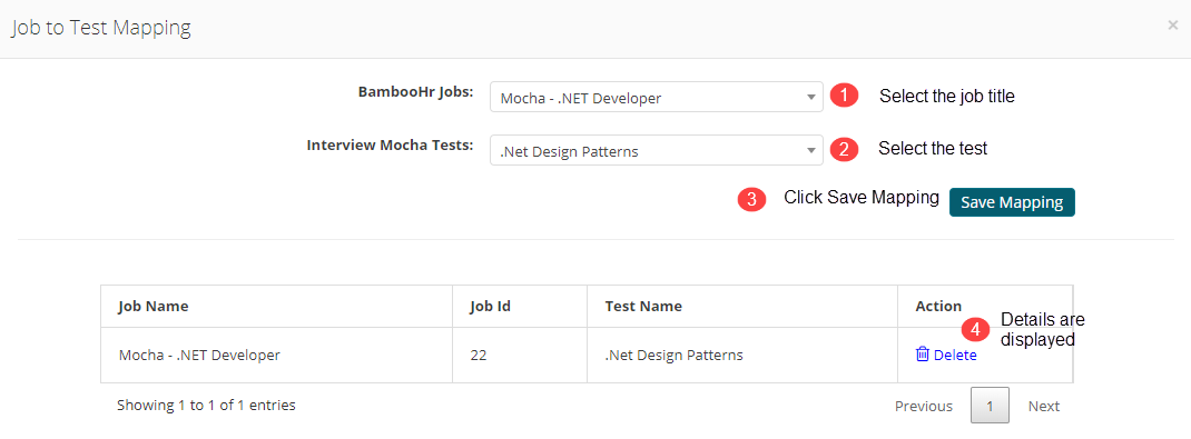 Jobs to Test Mapping - iMocha