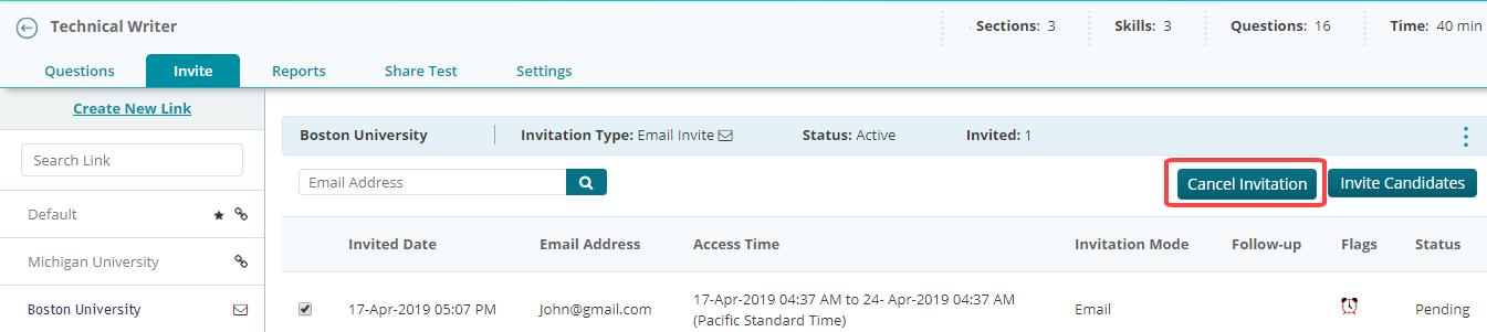 Cancel Invitation