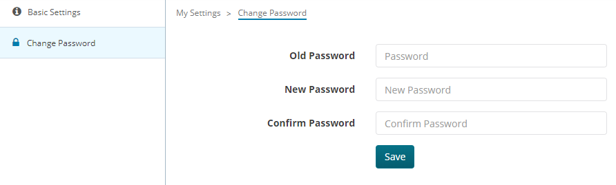 Change account Password