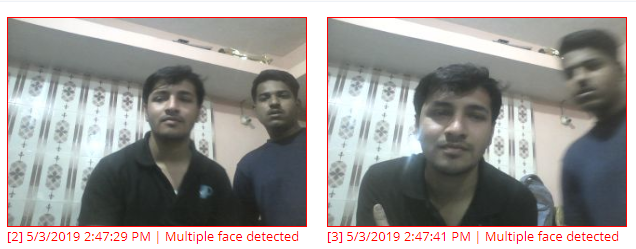 Image Proctoring Settings - Multiple Faces Detected