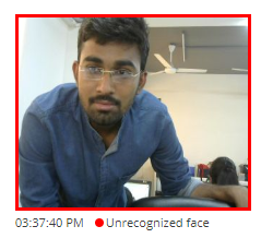 Image Proctoring Settings - Unauthorized face detected