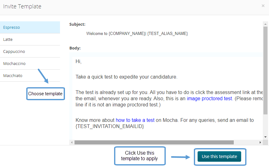 Use Email Template