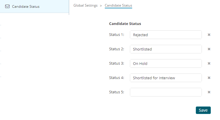 customize candidate status