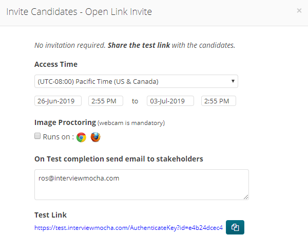 Open Link invites