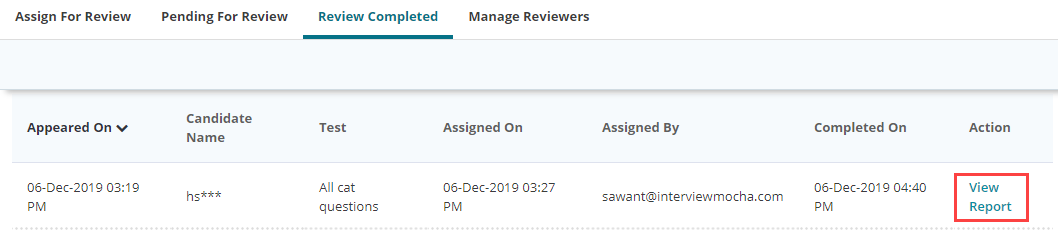 Review Completed