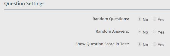 AI-EnglishPro Question Settings