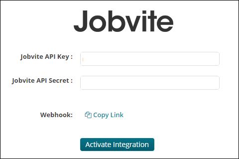 Jobvite API key