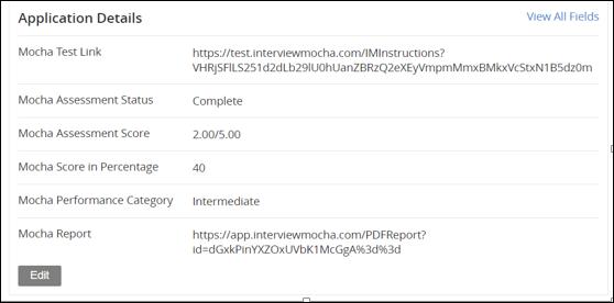 Test score - Jobvite integration