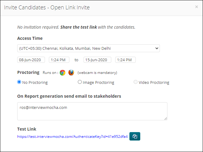 Open Link Invite
