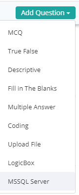 MS SQL Server Question Types
